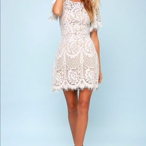Lulus White Lace Dress - worn once